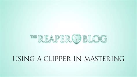 T Racks Soft Clipper by Using A Clipper In Mastering The Reaper