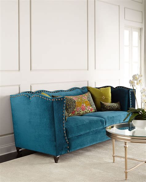 haute house haute house santiago peacock sofa everything turquoise