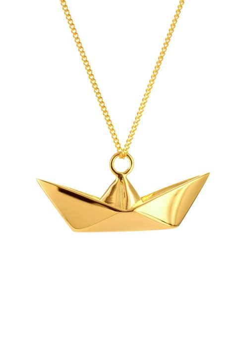 origami jewellery origami jewellery necklace boat silver from by