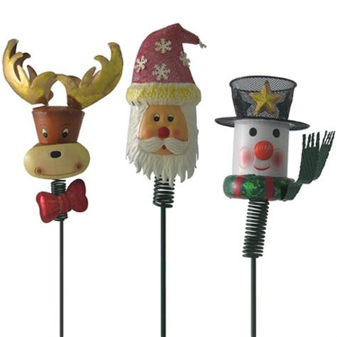 xmas garden christmas yard stakes set of 3 only 9 99