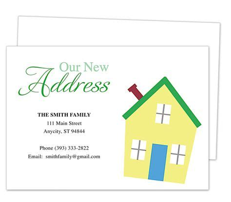Moving Announcements New Address Postcard Templates On Pinterest Card Templates Templates And New Address Template