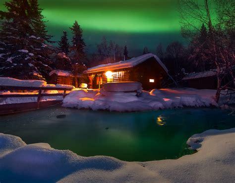 chena springs northern lights a warm winter cabin chena springs alaska cold
