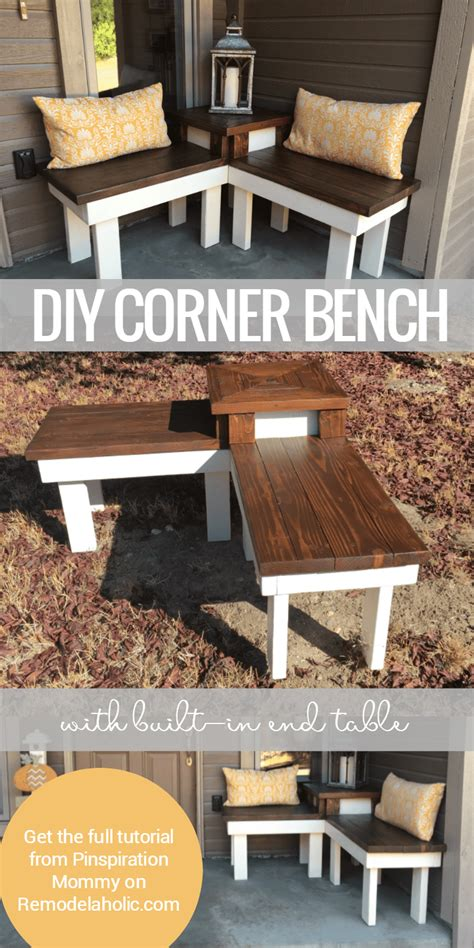 table with built in l remodelaholic build a corner bench with built in table