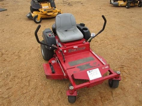 big mower prices big 42 quot zero turn mower j m wood auction company inc