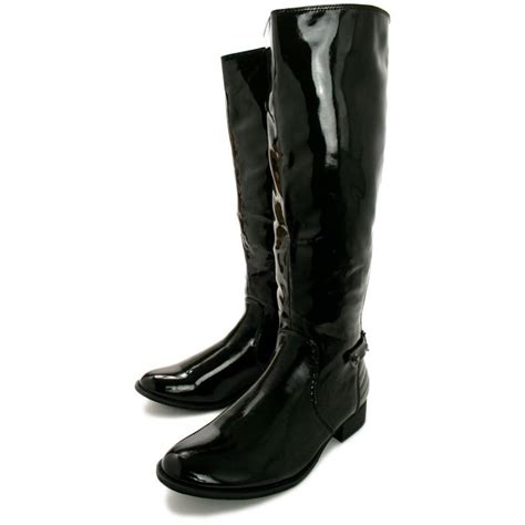 buy block heel stretch knee high boots