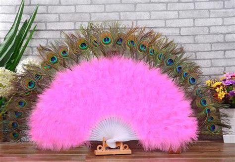 Kipas Bulu Merak merak pernikahan warna promotion shop for promotional