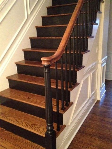Painted Stairs Design Ideas 25 Best Ideas About Black Staircase On Pinterest Staircase Painting Black Banister And