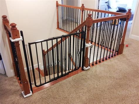 stair gate banister impressive baby gates for stairs no drilling 10 baby gate stairs banister newsonair org