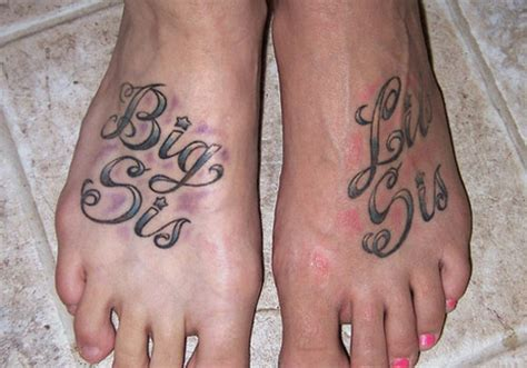 sister foot tattoo designs 31 charming ideas creativefan