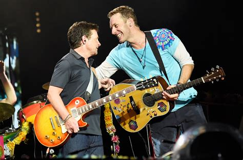 michael j fox coldplay michael j fox coldplay recreate back to the future