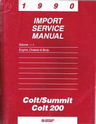 1994 plymouth colt free repair manual air bags 1990 dodge colt summit colt 200 import service manual