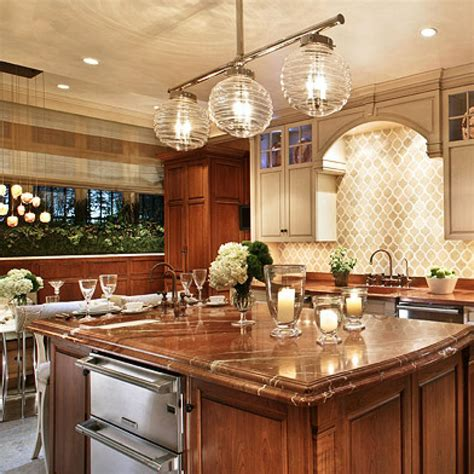 kitchen island decor welcoming intimate showhouse kitchen traditional home