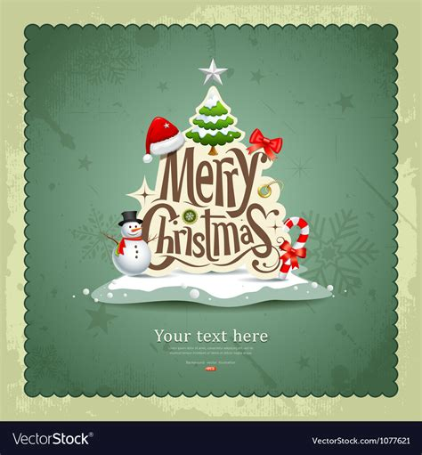 merry christmas vintage design royalty  vector image
