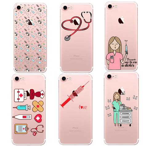 Casing Cover Slim Silicon Iphone 5 6 6 7 7 Soft Soft Silikon slim clear tpu silicone protective newest doctor dentist phone cover cases for