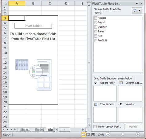 Pivot Table Excel 2010 by How To Create A Ms Excel 2010 Pivot Table An