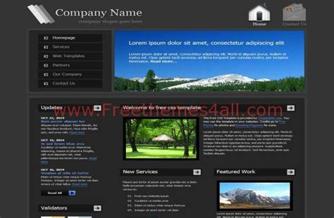 Dark Black Jquery Business Css Website Template Freethemes4all Jquery Website Templates