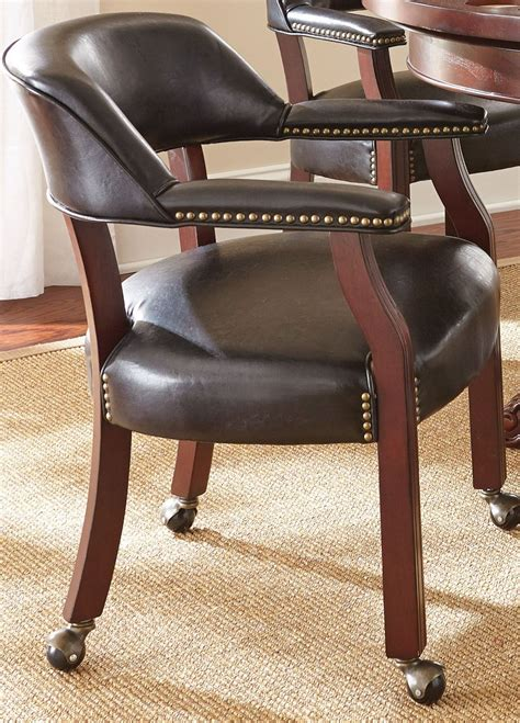 free dining room chairs with casters and arms dining room chairs with casters leather tournament black captains chair from steve silver tu500ab