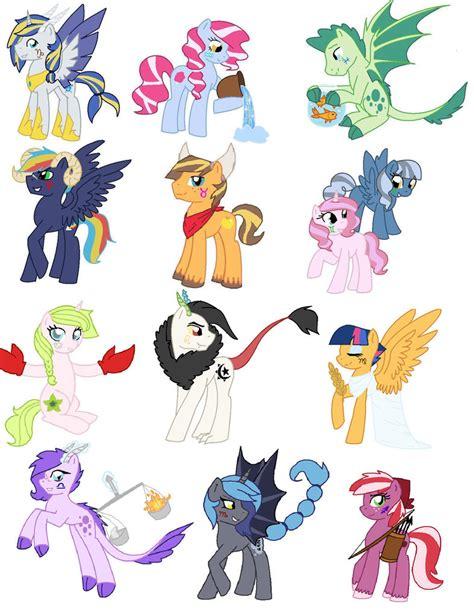 my little pony zodiac mlp next gen zodiac for kilala97 by papptimea84 on deviantart