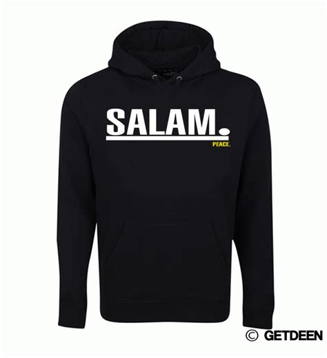 T Shirt Salam black salam hoodie white print
