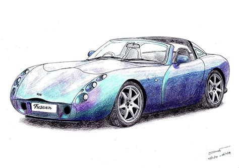 Tvr Tuscan Dimensions Tvr Tuscan Speed Six Drawing By Dan Poll