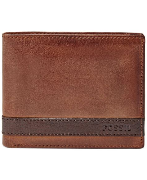 Fossil Bifold Flipid fossil quinn bifold with flip id wallet in brown for lyst