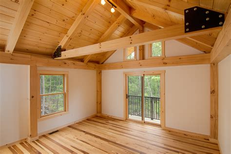 log floor introducing our new custom timber frame home product line