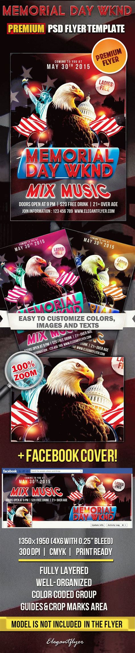Memorial Day Wknd Flyer Psd Template By Elegantflyer Free Funeral Flyer Template Psd