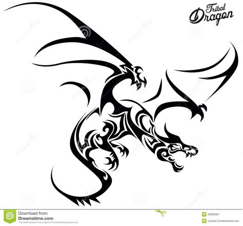 tribal dragon stock vector image of image creative