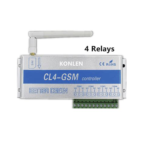 4 relay of gsm controller sms call remote switch