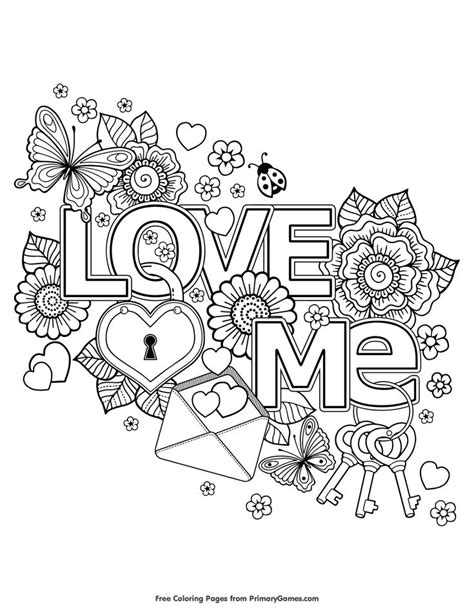 printable coloring pages for adults easy valentine s day coloring pages ebook love me free
