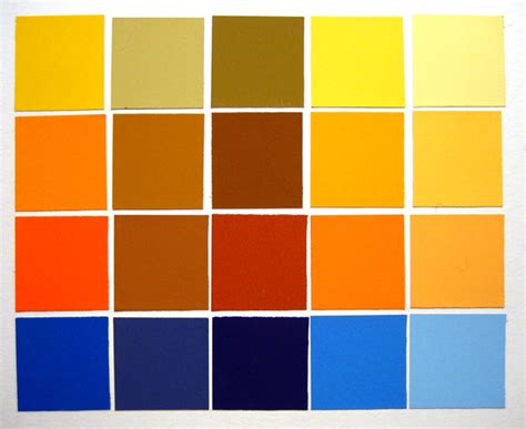 complementary color to orange analogous color scheme 1 s color study