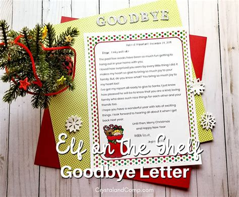 printable elf goodbye letter crystalandcompcom
