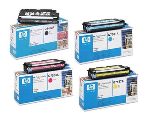 Toner Q7582a 4 color set of toner cartridges part q6470a q7581a