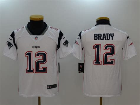 new nike patriots 12 tom brady white youth vapor