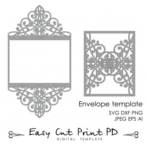 cut pro wedding templates wedding invitation pattern card template lace folds