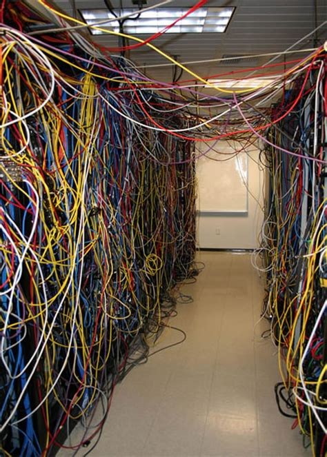 wire room server room cabling hell 15 of the worst server wiring