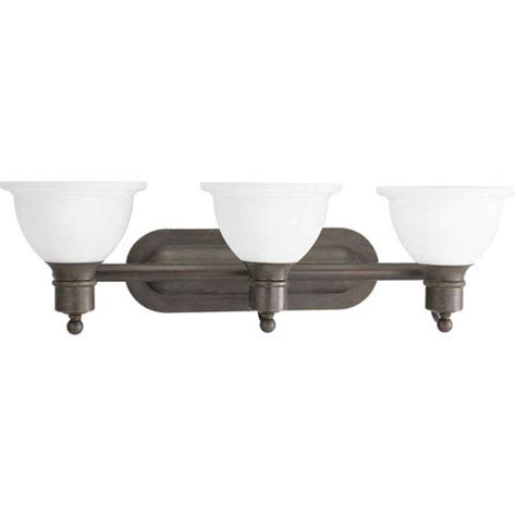 Bronze Bathroom Light Fixtures by Progress Lighting P3163 20 Antique Bronze Three