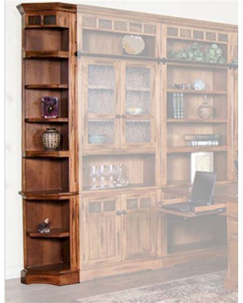 designs sedona bookcase sedona outside corner bookcase by designs su 2966ro b5