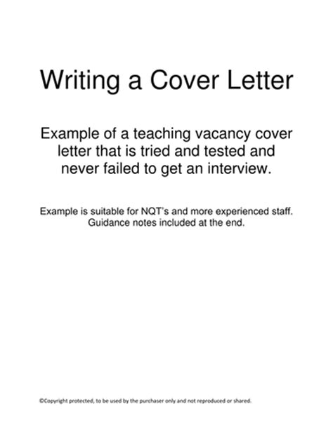Teaching Assistant Cover Letter Tes Application Letter Exles By Uk Teaching Resources Tes