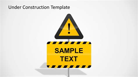 Under Construction Powerpoint Template Slidemodel Free Construction Sign Templates