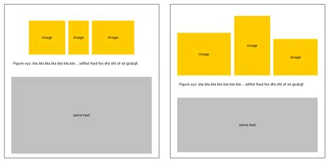 layout row height graphics different aspect ratio images full width same
