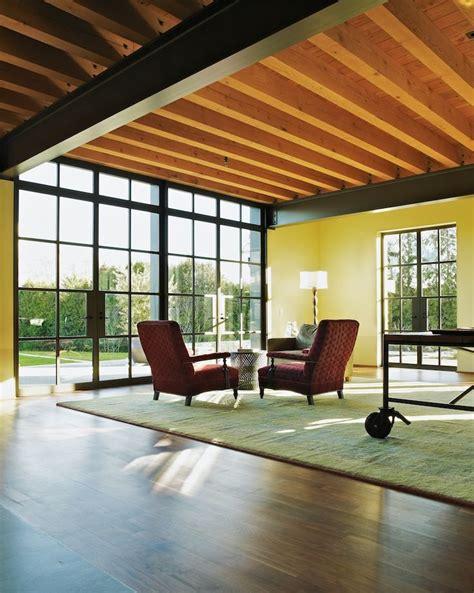 exposed wood beams rho architects exposed steel beams living room wood