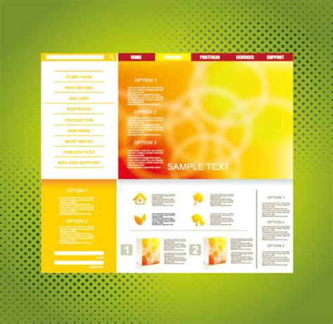 theme line yellow download yellow style website theme template vector free vector in