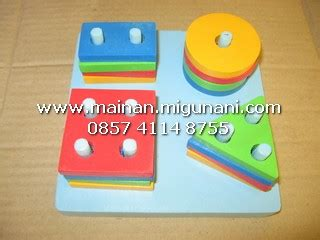 Tradisional Mainan Anak Susun Menyusun Puzzle Busa peluang usaha alat peraga edukatif www migunani