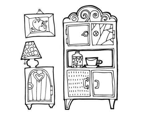 colorare mobili disegno di mobili soggiorno da colorare acolore