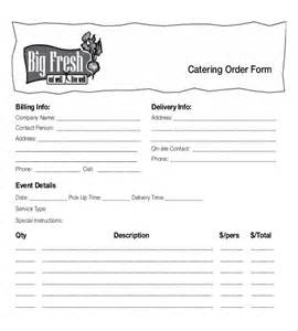 food order form template 15 food order templates free sle exle format