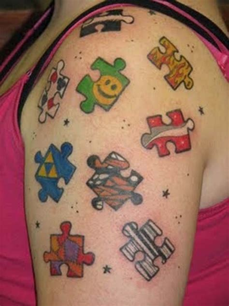 puzzle tattoo designs 25 smart puzzle designs