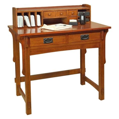 Mission Style Desk With Hutch Arts And Crafts Small Desk With Hutch Create A Complete Well Rounded Office With The Arts And