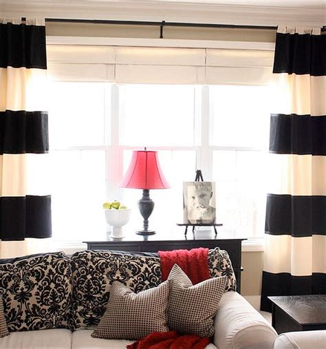 black and white striped drapes design ideas creative black and white patterned curtain ideas