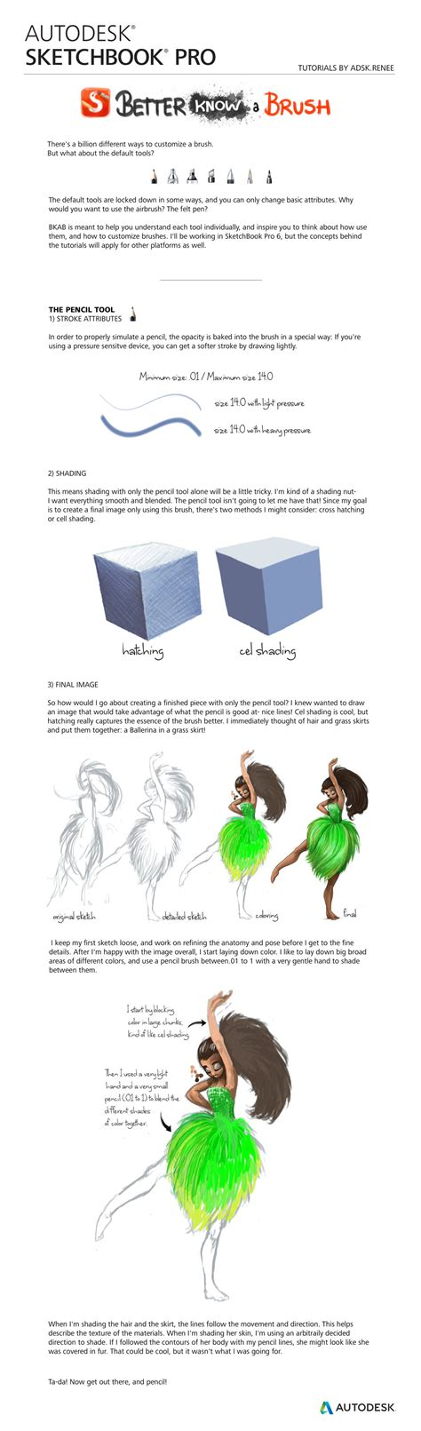 sketchbook pro painting tutorial autodesk sketchbook pro bkab the pencil tutorial by